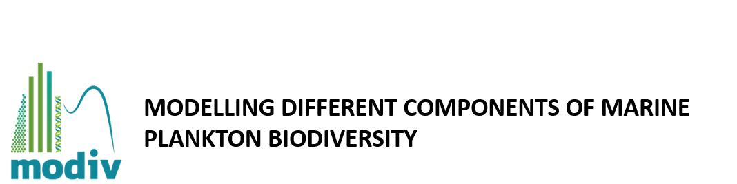 Modelling different components of marine plankton biodiversity